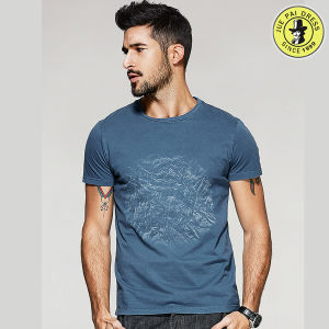 Wholesale Latest Round Neck T-Shirt Design OEM 100% Cotton Summer Shirts for Men pictures & photos