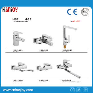 Sanitary Ware Deck Mounted Single Handle Brass Basin Faucet (H02-101) pictures & photos