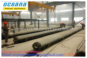 Concrete Pole Machine for Prestressed Concrete Poles Length 9-15m pictures & photos