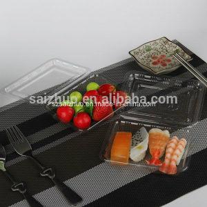 Rectangular BOPS Disposable Plastic Sushi Cake Snack Box (SZ-001) pictures & photos