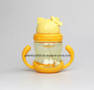 280ml BPA Free Custom Printing Cute Childern Strew Bottle with Hand Shank pictures & photos