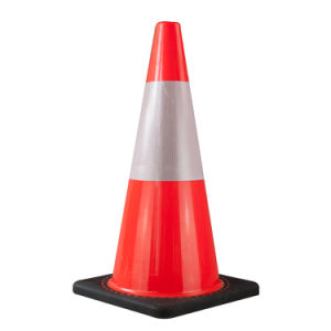 70cm PVC Cone with 25cm Class One Reflective Tape Popular in Australia Market (S-1238W) pictures & photos