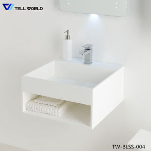 Hotel Bathroom Vanity Furniture Counter Acrylic Solid Surface Wash Basin pictures & photos