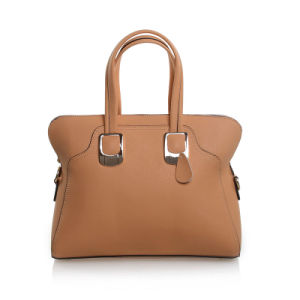Lady Fashion Tote Bag Genuine Cowhide Leather Top Handle Bag pictures & photos
