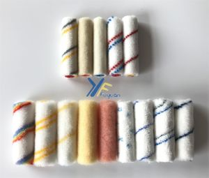 4′′ Polyester Mini Gray-Yellow Stripe Paint Roller pictures & photos