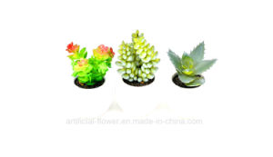 Life-Like Artificial Succulent Potted Plants with Ceramic Pot for Decoration