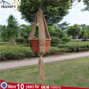 Hemp Handmade Hotel Deco Gift Macrame Plant Hanger pictures & photos
