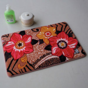 Coral Fleece Bathroom Mat with Flowers Printed in Facade pictures & photos