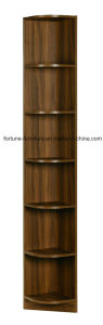Modern Wooden Walnut Color Corner Display Cabinet (B706-0.275) pictures & photos