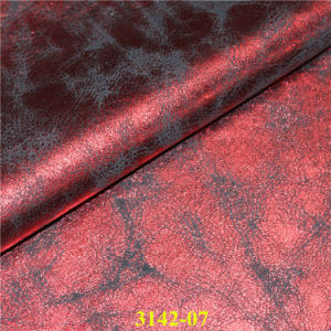 Hot Sale Fashionable PU Faux Leather Fabric for Footwear, Bags pictures & photos