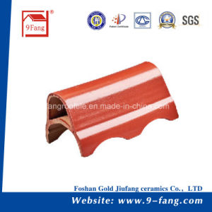 Corrugated Wave Type Clay Roofing Tile Made in China Roof Construction Material pictures & photos