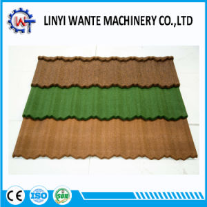 Heat Resistance Colorful Stone Coated Metal Nosen Roof Tile pictures & photos