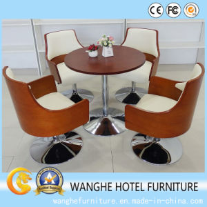 Hotel VIP Lounge Lobby Solid Wood Rotary Furniture Set pictures & photos