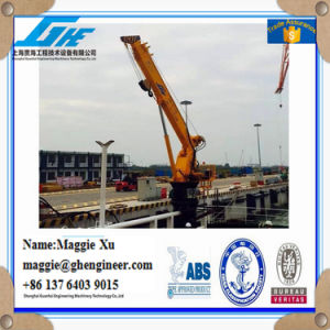 Bouy Lifting Jib Telescopic Boom Crane pictures & photos