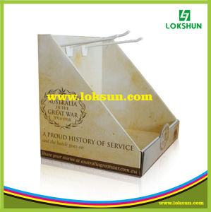 Cardboard PDQ Paper Counter Display Boxes with Hook pictures & photos
