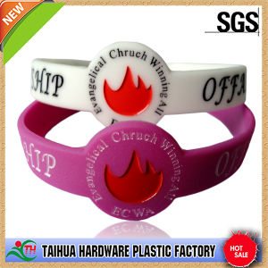 Wholese Souvenir Silicone Wristband pictures & photos