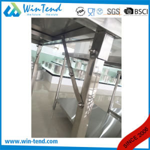 Stainless Steel Square Tube Collapsible Working Table with Height Adjustable Leg for Transport pictures & photos
