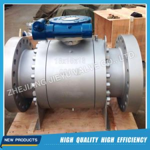 Trunnion Mounted Ball Valve 600lb 6inch with Worm Operated pictures & photos