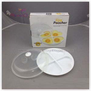 Egg Tools Plastic PP Microwave Egg Poacher 20*19.5*4cm pictures & photos
