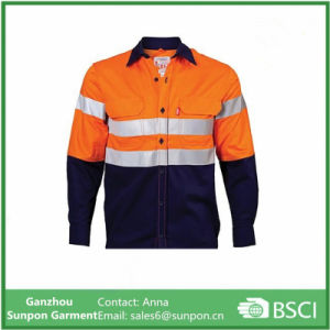 Two Tone Long Sleeve Refelctive Work Shirt pictures & photos