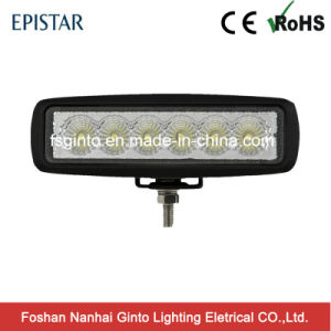 "6"" 12V/24V 6X3w Epistar LED Flood/Spot Work Light with E-MARK Approvaled pictures & photos"