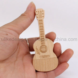 Guitar Shape Wooden USB Flash Drive (UL-W017) pictures & photos
