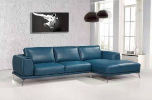 Modern L Shape blue Color Leather Sofa (L037) pictures & photos