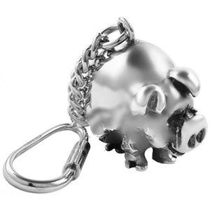 Custom Cheap Alloy Enamel Cute Pig Metal Key Chain pictures & photos