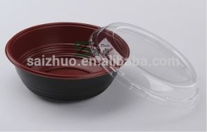 1000ml Simple Compartment Strang Round Soup Bowl with Airtight Lid pictures & photos
