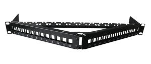 Angle Shape 24 Port Blank Patch Panel Fit for UTP Keystone Jack pictures & photos