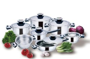 Kitchenware 12piece Stainless Steel Cookware Set pictures & photos