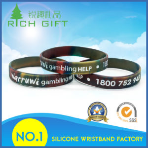Custom Fashion Style Multicolor Environmental Silicone Bracelet for Individual pictures & photos