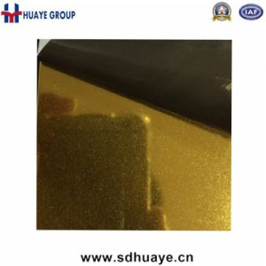 Gold Color Super Fine 8k Mirror Sand Blasting Stainless Steel Decoration Sheet pictures & photos