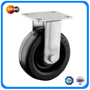 Heavy Duty Rigid Plate 6 Inch Rubber Wheels pictures & photos