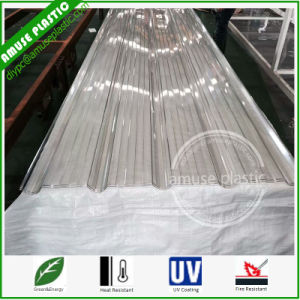 Polycarbonate Transparent Corrugated Sheets 0.8mm 1mm PC Corrugated Sheet Panel pictures & photos