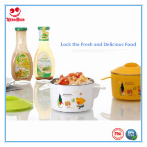 2 Ears Water Injection Insulation Baby Bowl with Lid pictures & photos