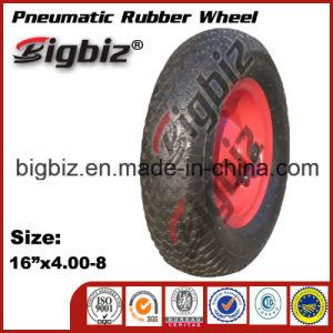 High Performance 4 Inch Natural Rubber Wheels for Trolley pictures & photos