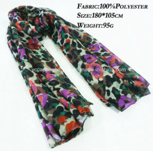 100% Polyester Floral Printed Fashion Infinity Scarf, Pashmina Scarf pictures & photos