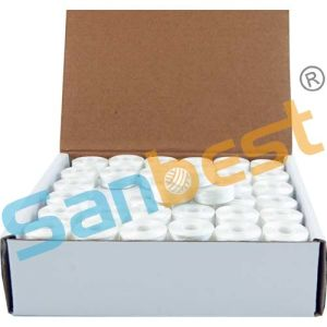 L Size, Sideless 144bobbins/Box Prewound Bobbins Thread for Embroidery in White and Black pictures & photos