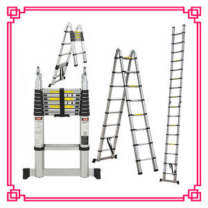 5m Aluminum Telescopic Bamboo Ladder with SGS/CE Approval pictures & photos
