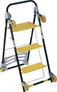 High Quality 3 Steps Ladder Trolly with En131 pictures & photos