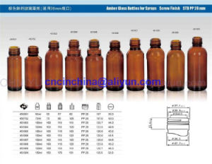 Amber Glass Bottles for Syrup Screw Finish Std PP 28mm pictures & photos