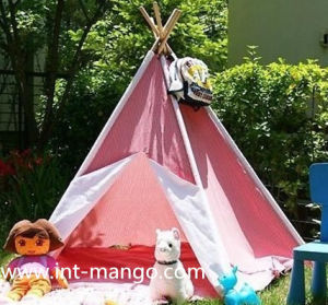 Wooden Pole Teepee Kids Tent (MW6012) pictures & photos
