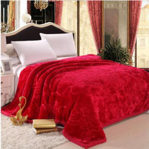 Autumn and Winter Thickening Solid and Embossed Mink Blanket (SR-B170317-6) pictures & photos
