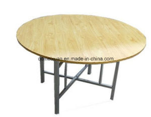 Snack Restaurants Selling Round Table Folding Big Round Table Dinner Table (M-X3438) pictures & photos