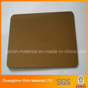 Golden Mirror Plastic Acrylic Sheet for Showing Case pictures & photos
