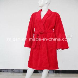 100% Polyester Solid Polar Fleece Women Robes pictures & photos