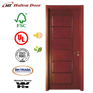 Solid Entrance Wooden Door with PU Painting