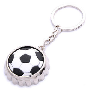 Promotion Football Bottle Lid Shape Keyring with Bottle Opener (F5037) pictures & photos
