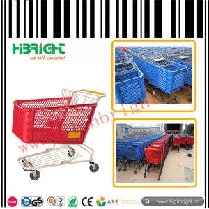 Supermarket Plastic Shopping Trolley Cart for American Market pictures & photos